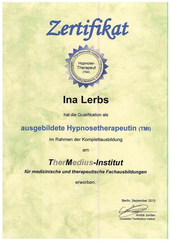 Ausgebildete Hypnosetherapeutin